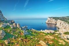 岩石和海品柱的卡奇亚 免版税库存图片