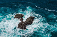 岩石和海II 免版税库存图片