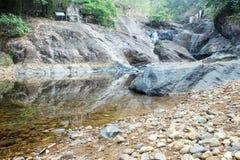 岩石和瀑布的本质 库存照片