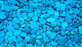 岩石和石头蓝色背景目的 免版税库存图片