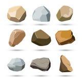 岩石和石头集 免版税库存照片