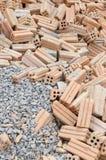 岩石和砖 免版税库存照片