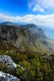岩石和风景在桌山,开普敦顶部 免版税图库摄影