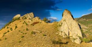 岩石和风暴 免版税库存图片