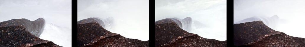 岩石和水在Krimml落,奥地利 图库摄影