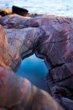岩石和水,海风景 免版税库存图片