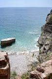 岩石和水 免版税库存照片