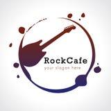 岩石咖啡馆商标 免版税库存图片