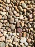 岩石品种在地面上的 免版税库存照片