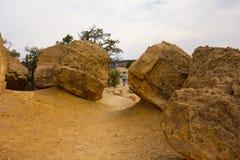 岩石国家公园惊人的城市在新墨西哥 免版税库存照片