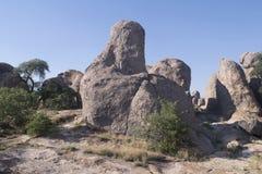 岩石国家公园,新墨西哥城市 图库摄影