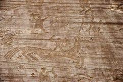 岩石图画在Valcamonica 5 免版税库存图片