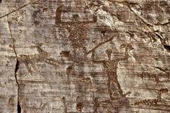 岩石图画在Valcamonica 7 库存照片