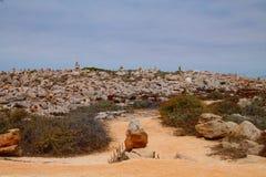 岩石在世界结束时在葡萄牙 免版税库存图片