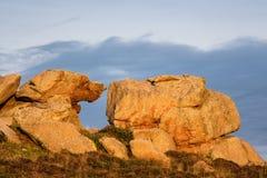 岩石在布里坦尼 免版税库存照片