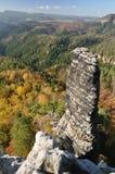 岩石在捷克瑞士 免版税库存照片