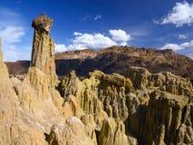 岩石在月亮谷的柱子形成 免版税库存照片