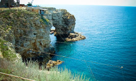 岩石在海, seaview 免版税库存图片