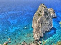 岩石在海3 免版税库存照片