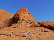 岩石在澳大利亚红色中心 库存照片