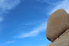 岩石在约书亚树国家公园加利福尼亚 免版税库存图片