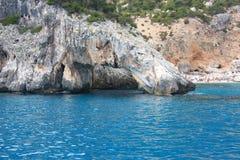 岩石在水中 库存照片