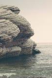 岩石在Gaspésie 库存图片