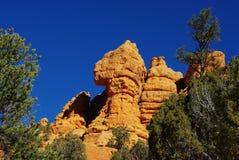 岩石在Panguitch附近的红色峡谷地区,犹他 免版税图库摄影