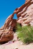 岩石在Petra城市 库存照片