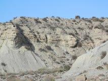 岩石在Tebernas沙漠 免版税库存图片