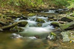 岩石城堡峡谷小河 免版税库存图片