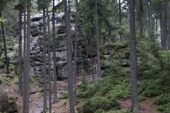 岩石城市在捷克 免版税库存照片