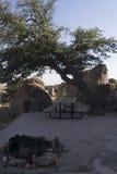 岩石城市的露营地 库存图片