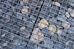 岩石堆的笼子为indistury使用由texuted 免版税库存图片