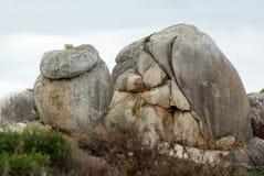 岩石塑造塔斯马尼亚岛 图库摄影