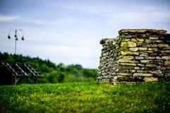岩石墙壁堡垒 库存图片