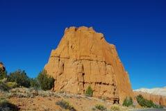 岩石墙壁,犹他 免版税库存照片