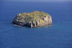 岩石小岛 库存照片