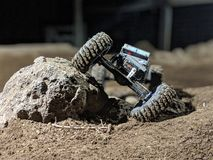 岩石履带牵引装置 库存图片