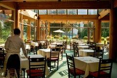 岩石山的餐馆 库存图片