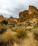 岩石峡谷峭壁 库存图片