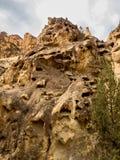 岩石峡谷峭壁 免版税库存图片