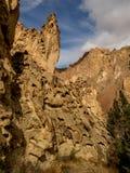 岩石峡谷峭壁 图库摄影