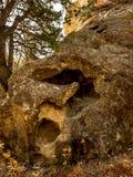 岩石峡谷峭壁 库存照片