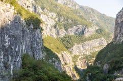 岩石峡谷,黑山 免版税库存照片
