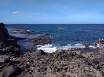 岩石峭壁侧视图 库存照片