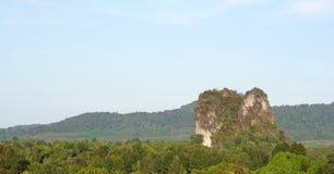 岩石峭壁在泰国 库存照片