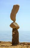 岩石平衡的艺术 免版税库存照片