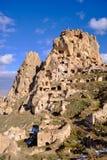 岩石建筑 cappadocia 免版税库存图片