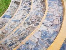 岩石弯曲的楼梯 免版税库存照片